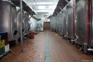 Stainless tanks of the winery